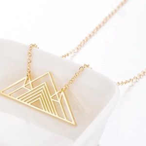 The Chic Petunia • Gold Origami Mountain Necklace